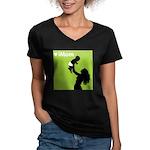 iMom Lime Green Mother's Day Women's V-Neck Dark