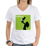 iMom Lime Green Mother's Day Women's V-Neck T-Shi