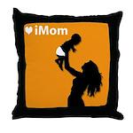 iMom Orange Mother's Day Throw Pillow
