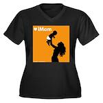 iMom Orange Mother's Day Women's Plus Size V-Neck