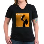 iMom Orange Mother's Day Women's V-Neck Dark T-Shi