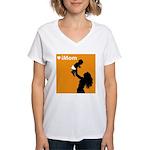 iMom Orange Mother's Day Women's V-Neck T-Shirt