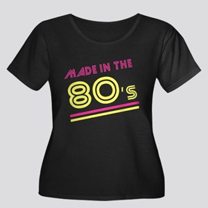 Made in the 80's Women's Plus Size Scoop Neck Dark
