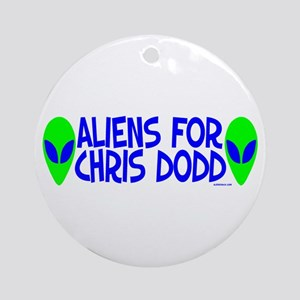 Chris Dodd Ornament (Round)