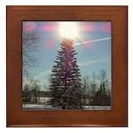 Christmas Star Framed Tile