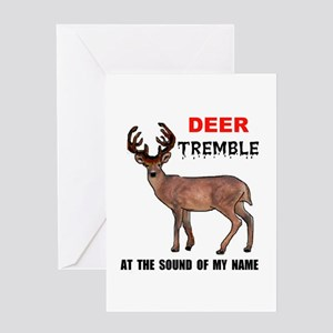 DEER TREMBLE Greeting Card