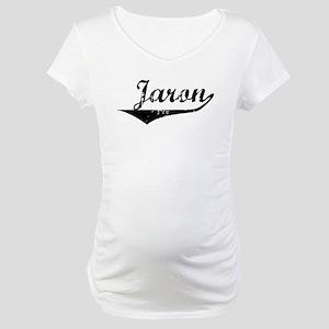 Jaron Vintage (Black) Maternity T-Shirt
