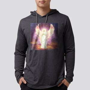 Angel Of God Mens Hooded Shirt