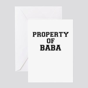 Property of BABA Greeting Cards