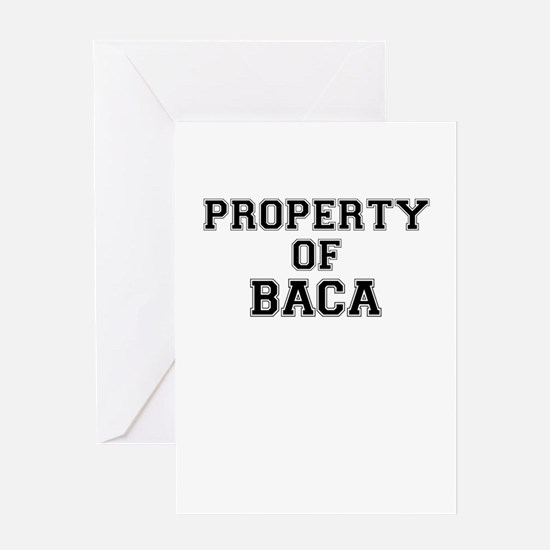Property of BACA Greeting Cards