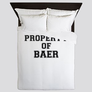 Property of BAER Queen Duvet