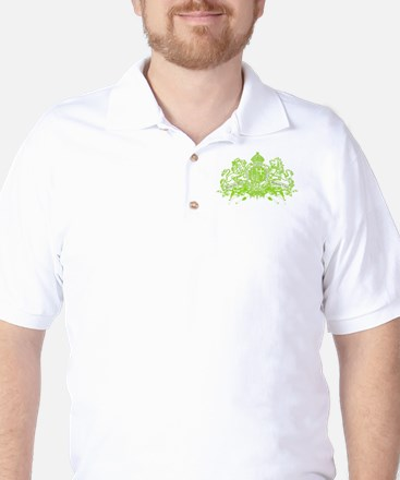 Trance Memento Green Golf Shirt