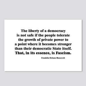 Freedom or Fascism Postcards (Package of 8)