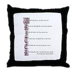 Writer's Prayer Throw Pillow
