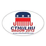 Cthulhu/Dagon2012 Oval Sticker