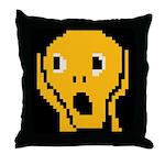 Screaming Throw Pillow