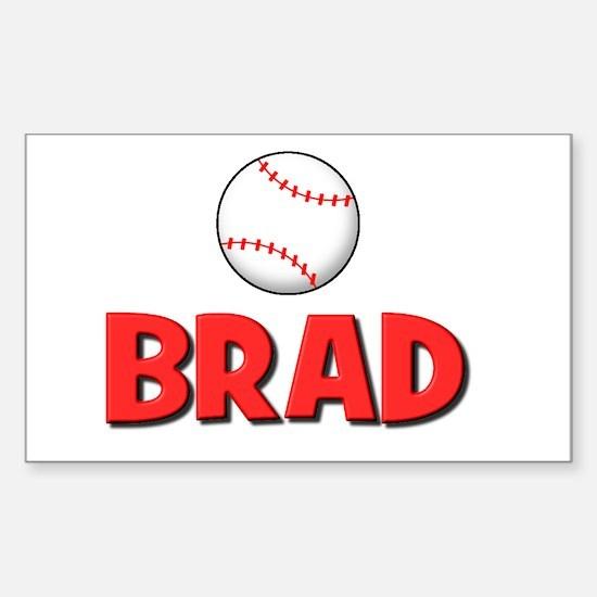 Brad - Baseball Rectangle Decal