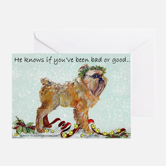 Brussels Griffon Christmas Greeting Card
