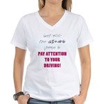 Get Off The Phone Women's V-Neck T-Shirt