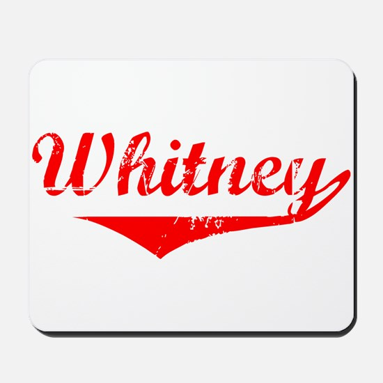 Whitney Vintage (Red) Mousepad