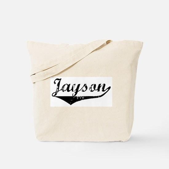 Jayson Vintage (Black) Tote Bag