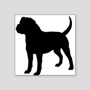 Olde English Bulldogge Silhouette Sticker