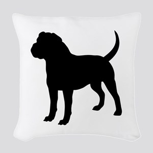 Olde English Bulldogge Silhouette Woven Throw Pill