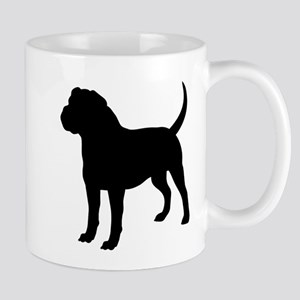 Olde English Bulldogge Silhouette Mugs