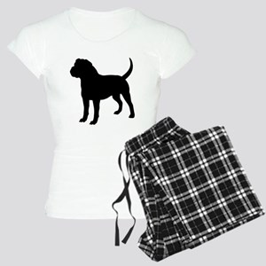 Olde English Bulldogge Silhouette Pajamas