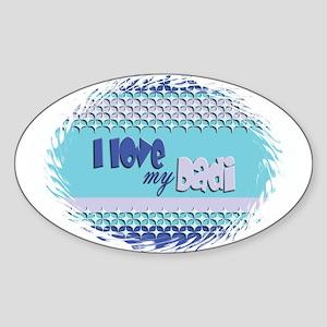 Blue Dadi Oval Sticker