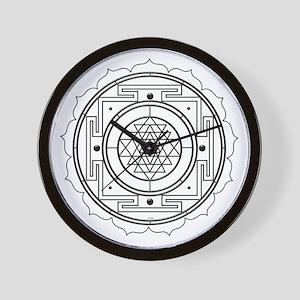 Sri Yantra Design Wall Clock