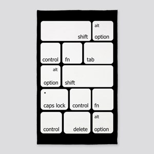 Keyboard Commands Area Rug