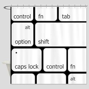 Keyboard Commands Shower Curtain