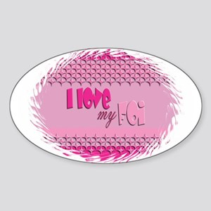 PInk Foi Oval Sticker