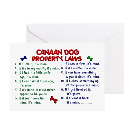 Canaan Dog Property Laws 2 Greeting Cards (Pk of 1