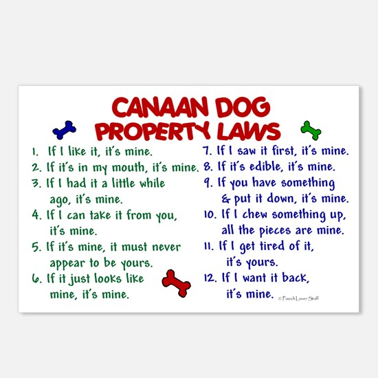 Canaan Dog Property Laws 2 Postcards (Package of 8