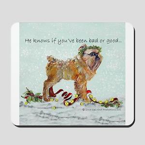 Brussels Griffon Christmas Mousepad