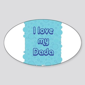 Bubbles Dada Oval Sticker