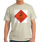 Yack Warning Ash Grey T-Shirt