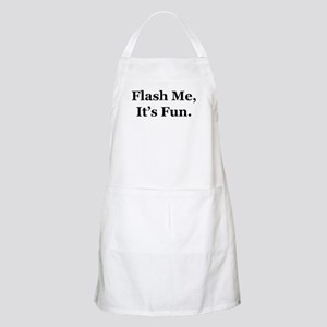 Flash Me, It's Fun. BBQ Apron