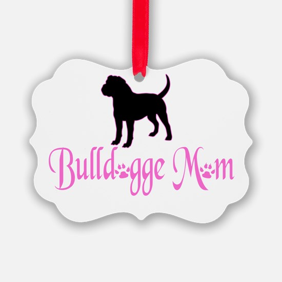 Olde English Bulldogge Mom Ornament