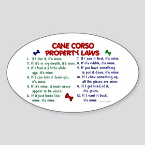 Cane Corso Property Laws 2 Oval Sticker