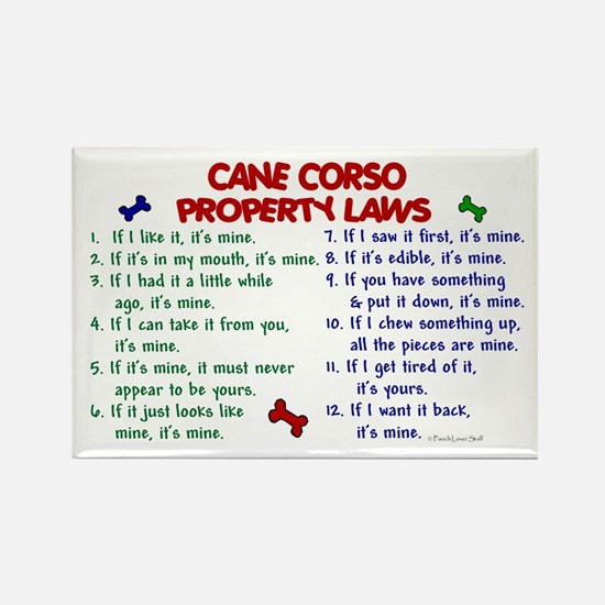 Cane Corso Property Laws 2 Rectangle Magnet