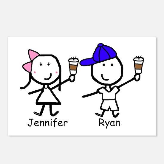 Coffee - Jennifer & Ryan Postcards (Package of 8)
