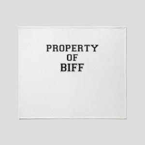 Property of BIFF Throw Blanket