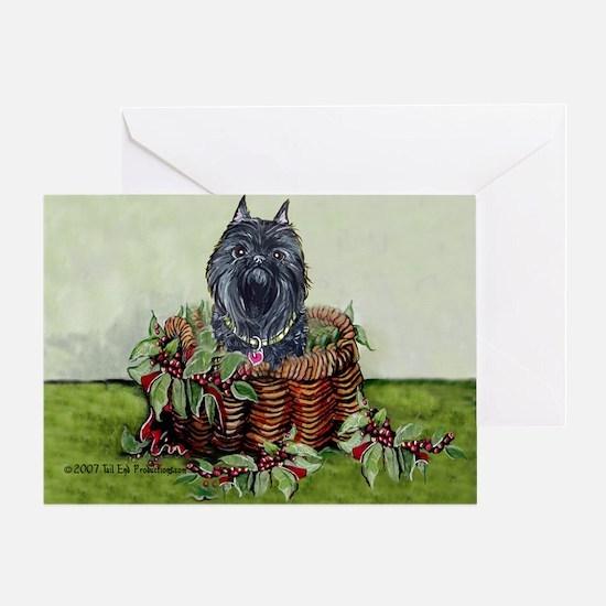 Brussels Basket Griffon Dog Greeting Card
