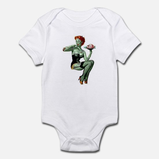 zombie pin-up girl Infant Bodysuit