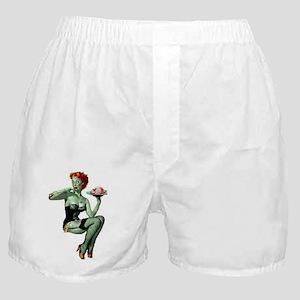 zombie pin-up girl Boxer Shorts