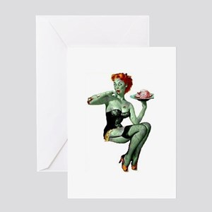 zombie pin-up girl Greeting Card