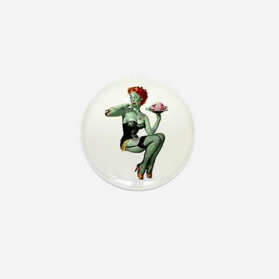 zombie pin-up girl Mini Button (10 pack)